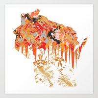 Sconny Splash Art Print