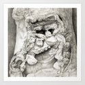 Old Man in Tree Bark Art Print