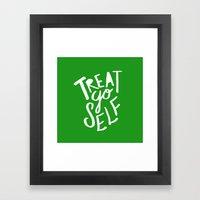 Treat Yo Self X Holiday … Framed Art Print