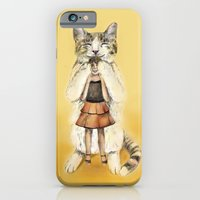iPhone Cases featuring Big cat by Anna Shell