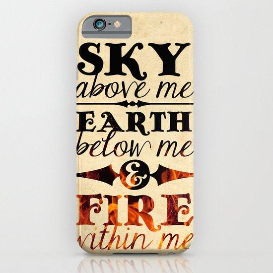 Sky Earth Fire iPhone & iPod Case