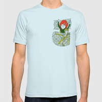 Tina&Ape Mens Fitted Tee Light Blue SMALL