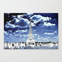 Tower Tourists In Revers… Canvas Print