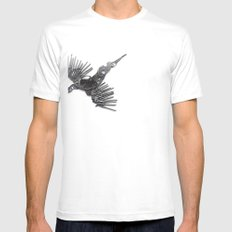 Rad's Birds White Mens Fitted Tee SMALL
