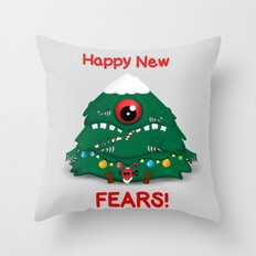 Happy New Fears Throw Pillow