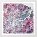 Brisbane map Art Print