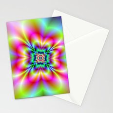 Psychedelic Four Leaf Clover  Stationery Cards