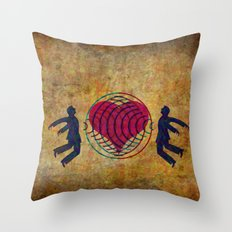 Magnetic love Throw Pillow