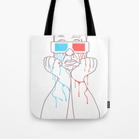 Hitchcock 3D Tote Bag