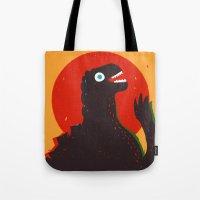 Godzilla Welcomes You to Monster Island, Gojira Tote Bag
