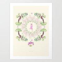 Yoga Garden VI Art Print