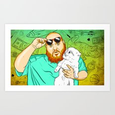 Action Bronson in the Kitchen Art Print
