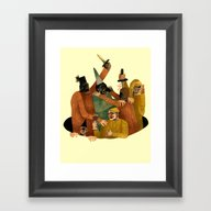 Shitty Fascist Party Framed Art Print