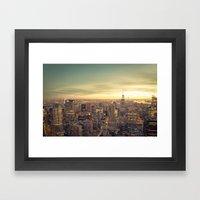 New York Skyline Cityscape Framed Art Print