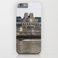 SIS Secret Service Building London And Rib Boat iPhone 6 Slim Case