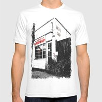 Norma's Barbershop  Mens Fitted Tee White SMALL