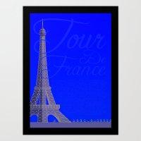 Tour De France Eiffel To… Art Print