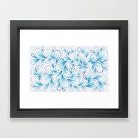 Cerulean Spray  Framed Art Print