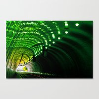 Lemon Lime Tunnel Canvas Print