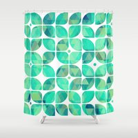 Minty Shower Curtain