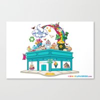 Kawaii Universe Studio Logo  Canvas Print