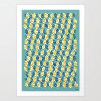 Honeydrop Leaves Art Print