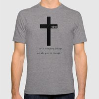 Philippians 4:13 Mens Fitted Tee Tri-Grey SMALL
