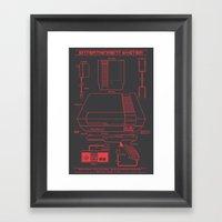Entertainment System (dark) Framed Art Print