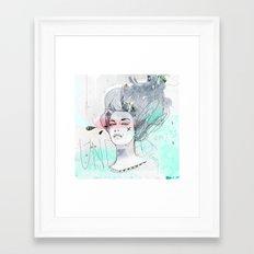 Under Water Love Framed Art Print