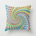 Colour Mix Spiral Throw Pillow