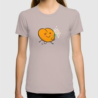 Apricot St Germain Womens Fitted Tee Cinder SMALL