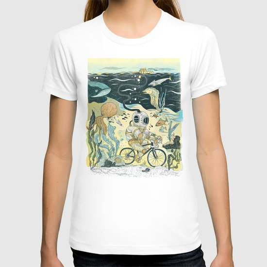Cycling in the Deep T-shirt