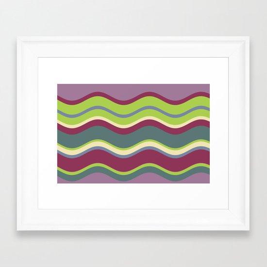 Lavender Shores Framed Art Print