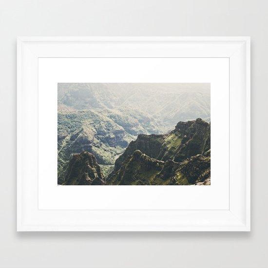 Hawaii Green Framed Art Print