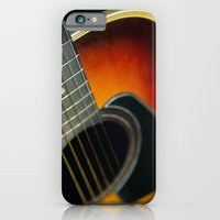 guitar iPhone & iPod Cases featuring Guitar by Bruce Stanfield
