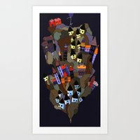 Floating Rock Art Print