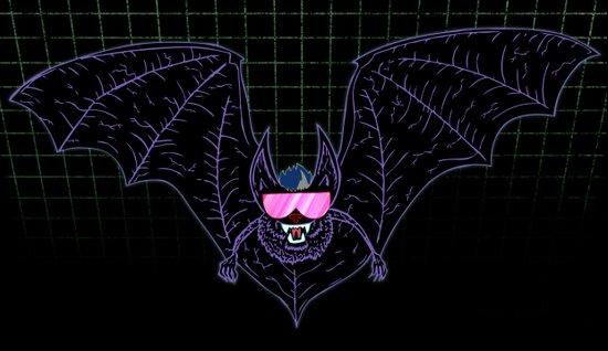 Neon Bat Canvas Print