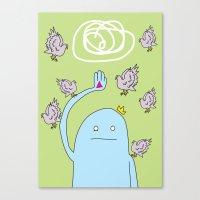 Birds Huh?! Canvas Print