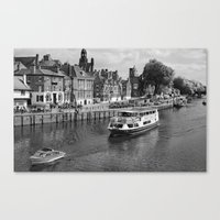 King's Staith beside the river Ouse Canvas Print