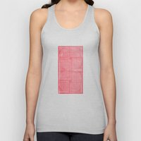 Robotic Boobs Red Unisex Tank Top