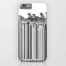 Zebra Barcode iPhone 6s Slim Case