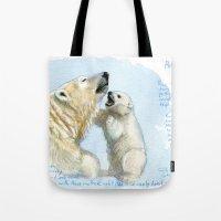 Polar bears A0086 Tote Bag
