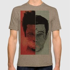 Tyler Durden V. the Narrator Mens Fitted Tee Tri-Coffee SMALL