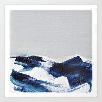 BRUSH STROKES II Art Print