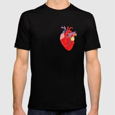 Heart Mens Fitted Tee SMALL Black