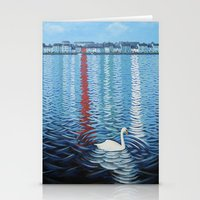Red house over yonder. Stationery Cards