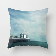 brighton pier Throw Pillow