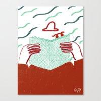 Watching You Secretly Canvas Print