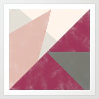 Fall Red Gray Pink Water… Art Print