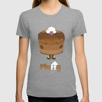 Fluffy Chocolate Mousse Cake Womens Fitted Tee Tri-Grey SMALL
